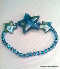Twinkle Twinkle Falling Star Bracelet by Originalsbydenise on Etsy
