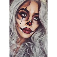 33 Sexy Halloween Makeup Looks That Are Creepy Yet Cute ❤ liked on Polyvore featuring beauty products, makeup and beauty