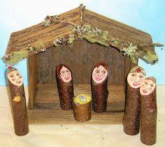 Cedar wood Manger for any nativity by NaturallybyDenise on Etsy, $20.00