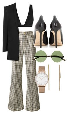 """""""Untitled #5153"""" by olivia-mr ❤ liked on Polyvore featuring Marc Jacobs, Zimmermann, Helmut Lang, Jimmy Choo, The Row and CLUSE"""