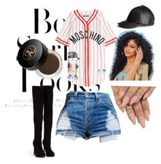 Ball-park cutie by alexiss-baker on Polyvore featuring polyvore, мода, style, Moschino, Nly Shoes, H&M and Anastasia Beverly Hills