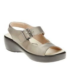 b773a7dcf9 $150 Drew Shoes Womens AVALON Sandals 10.5W Wide Pewter Orthotic Comfort  Therapy #Drew #