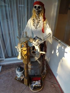 I am new to the forum, and have kind of a pirate thing going on, so I decided to build a pirate prop for halloween as well as potentially some pirate. Pirate Halloween Decorations, Pirate Decor, Clever Halloween Costumes, Scary Decorations, Halloween Party Themes, Pirate Theme, Halloween Skeletons, Halloween Season, Holidays Halloween