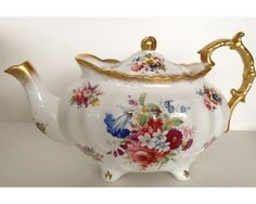 Fancy Hammersley Lady Patricia Full Size Large Tea Pot Teapot