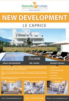 Le Caprice is a new project consisting of 14 luxury apartments distributed over just three buildings of three floors. The development is located in Benahavís…