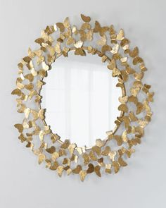 Shop Butterfly Mirror from Jamie Young at Horchow, where you'll find new lower shipping on hundreds of home furnishings and gifts. Sunburst Mirror, Diy Mirror, Beveled Mirror, Entryway Mirror, Rope Mirror, Mirror Crafts, Brass Mirror, Mirror Glass, Glass Tray