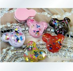 Mickey Head Acrylic Beads Cabochons 19mm #WholePort