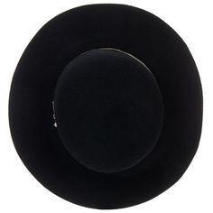 Eugenia Kim Blake Black Leather-Trimmed Wool-Felt Fedora Hat ❤ liked on Polyvore featuring accessories, hats, wool fedora hat, eugenia kim, felt fedora, eugenia kim fedora and wool hat
