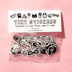 http://www.etsy.com/listing/121088401/tiny-sticker-pack-black-white