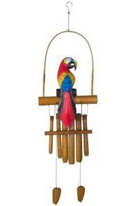 Woodstock Parrot Bamboo Chime Asli Arts Collection <3 This is an Amazon Associate's Pin. Clicking on the image will lead you to the Amazon website.