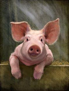 Jeremy Norton Illustration - Happy Pig