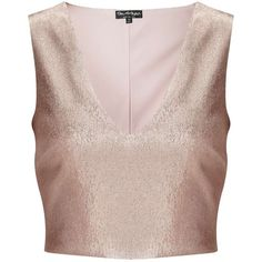 Miss Selfridge Rose Gold Shell Top (905 ARS) ❤ liked on Polyvore featuring tops, crop tops, shirts, rose pink, party shirts, shell crop top, going out crop tops, metallic shirt and party tops