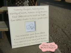 Custom made to order picture frame TWINS quote by prairieboutique, $90.00