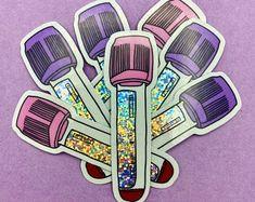 Science Gifts, Science Art, Laptop Decal, Laptop Stickers, Nalgene Bottle, Biology Art, Lab Logo, Lab Tech, Pediatric Nursing