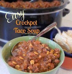 Easy Crock Pot Taco Soup - Kneaded Creations!