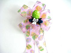 Easter bow Easter basket bow Gift wrap bow Easter egg by jandavis2