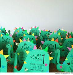 Bondville: Cutest dinosaur birthday party invites from Peaches + Keen
