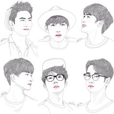 Taecyeon Jun.K Nichkhun Junho Wooyoung Chansung 2PM