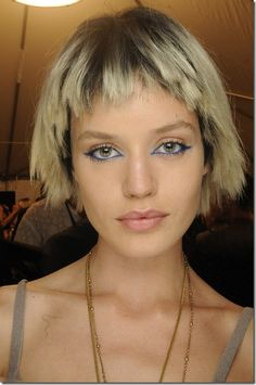 short hair at marc jabos ss14 backstage