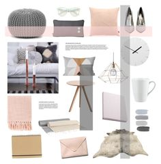 """""""Untitled #418"""" by rheeee ❤ liked on Polyvore featuring interior, interiors, interior design, home, home decor, interior decorating, Nuuna, Comfort Research, Surya and Design Letters"""