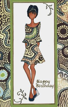 Prima doll birthday card