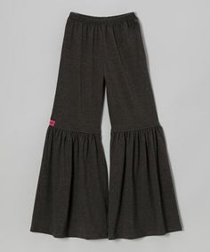 Take a look at this Gray Bell-Bottom Pants - Toddler & Girls by oakie&b kicky&cool apparel on #zulily today!