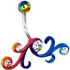 Show off your rebellious side with some of our badass belly rings. Make sure everyone knows you can handle the pierced life with navel piercing jewelry that provides you with the bold and brash style you desire. Belly Button Piercing Jewelry, Bellybutton Piercings, Cool Piercings, Body Piercing, Piercing Ideas, Piercing Ring, Belly Rings, Belly Button Rings, Tatoo