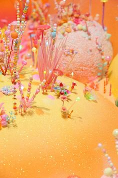 To delight children and families, artist duo Pip  Pop created a spectacular installation 'We miss you magic land!' especially for the Children's Art Centre (Brisbane - Queensland - Australia). Tanya Schultz and Nicole Andrijevic are inspired by fairy tales from all over the world, creation myths, Buddhist cosmologies and video games. One of their favourite inspirations is the land of Cockaigne, a mythical place of plenty which first appeared in French poetry in the thirteenth century.