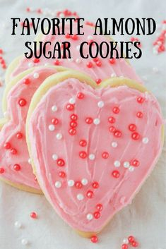 My favorite almond sugar cookies are easy, roll out, cut out sugar cookies! They are delicious with frosting, decorated with icing or topped with sprinkles! Roll Out Sugar Cookies, Almond Sugar Cookies, Gluten Free Sugar Cookies, Chocolate Sugar Cookies, Sugar Cookie Frosting, Cut Out Cookies, Sugar Cookies Recipe, Frosted Sugar Cookies, Christmas Sugar Cookies