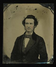 1850s Ambrotype Portrait Young Gentleman, Pensive Side Glance Look, Bow Tie, Wispy Hair 6h Plate. Ambrotype, no case. Very nice 6th plate ambro portrait of a young gentleman with wispy hair, large bow tie and an uncommon, pensive side glance. | eBay!