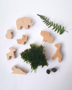 Baby Wild Animal Set Our wooden toys are safe, ecological, natural and long-lasting. Simple design, playful and small size figures are perfect for little hands to hold and use in play. Let your child use their imagination & have fun creating their own story!  Made from natural,