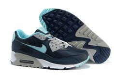 Agréable Nike Air Max 90 Essential Obsidian Turquoise Gris Homme
