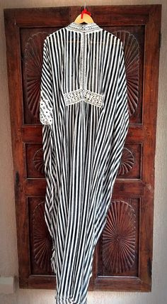 Silk striped caftan long maxi dress by ArabianThreads on Etsy