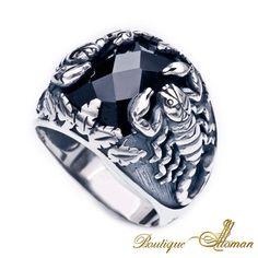 #jewelry 925 Silver Man Rings Scorpion  #jewelry #ottoman