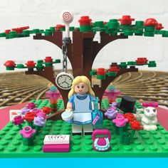 'It's no use going back to yesterday because I was a different person then.' - Alice in Wonderland by moulego Lego Craft, Lego Photography, Lego Disney, T Shirt Yarn, Lego Brick, Lego Sets, Bricks, Legos, Alice In Wonderland