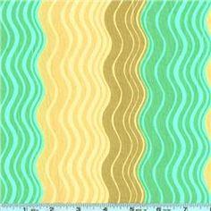 Amy Butler Midwest Modern II Ripple Stripe Green