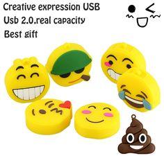 2.95$  Watch here - http://alieia.shopchina.info/go.php?t=32774604070 - USB stick usb 2.0 real capacity Emoji emotion expression USB flash drive pen drive 1gb-64gb memory Stick Pendrive U Disk 2.95$ #buyininternet