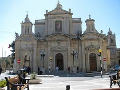 The Parish Church of Rabat Malta where there is St.Paul`s Grotto.