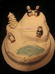 Tarta Polo Norte con Pingüinos