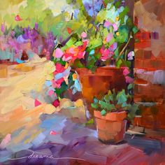 American painter Dreama Tolle Perry is a self-taught artist who finds her inspiration in color and sunshine. She is a prolific painter and an inspirational teacher. Dreama lives in Paris, KY with her husband Ron, dog Maggie and world famous cat, Eddie. Dreama paint scenes of France and Italy and flowers and cats.