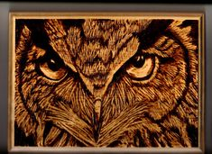 This is an original piece made by me and not a pattern print. I cut and routered the plaque to ad to the design. I originally painted a pastel version of this owl and thought it would make a good wood burning project. Size is around 11 x 8. Hanging hardware attached and ready to