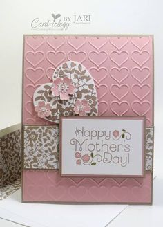 Bloomin' Love Mother's Day card by Card-iology by Jari Mothers Day Decor, Mothers Day Crafts, Mother Card, Mother's Day Gift Baskets, Mother's Day Diy, Fathers Day Cards, Love Cards, Pink Cards, Baby Cards