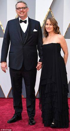 Red carpet couples: Andy Serkis (L) was joined by wife Lorraine Ashbourne, while The Big Short director Adam McKay brought along wifeShira Piven