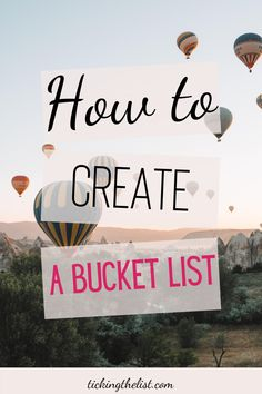 Learn how to create your dream bucket list and manifest the life you always wanted. Start achieving your goals today by ticking things off your bucket list.