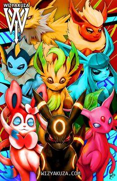 Gloss Art Print Hand Drawn, Digitally Colored & Original Print comes WITHOUT my Watermark/Text on it! Pokemon Room, Pokemon Pins, Pokemon Fan Art, Pokemon Tattoo, Pokemon Eeveelutions, Eevee Evolutions, Pokemon Super, Cool Pokemon Wallpapers, Pokemon Official