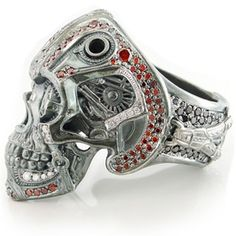 Steampunk Skull Ring