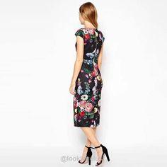 Floral Cap Sleeve Sheath Dress -  - Casual Dresses  Look Love Lust https://www.looklovelust.com/products/floral-cap-sleeve-sheath-dress