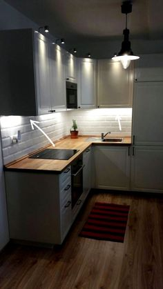 I am in love with my new Ikea bodbyn kitchen with French subway tiles. It's sm . - I am in love with my new Ikea bodbyn kitchen with French subway tiles. It's sm - Budget Kitchen Remodel, Kitchen On A Budget, Home Decor Kitchen, Interior Design Kitchen, New Kitchen, Kitchen Ideas, French Kitchen, Modern Kitchen Cabinets, Kitchen Layout
