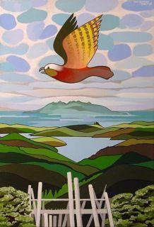 Don BInney bird painting New Zealand Art, Nz Art, Maori Art, Kiwiana, Bird Pictures, Animal Paintings, Land Scape, Art Images, Unique Art