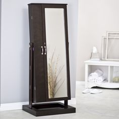 Have to have it. Belham Living Bordeaux Locking Cheval Mirror Jewelry Armoire - $289.98 @hayneedle